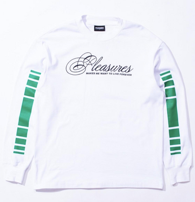 PLEASURES LIVE FOREVER PREMIUM L/S SHIRT - WHITE