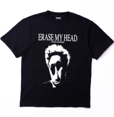 PLEASURES ERASE MY HEAD PREMIUM T-SHIRT - BLACK