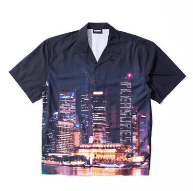 PLEASURES METRO BUTTON DOWN - Black