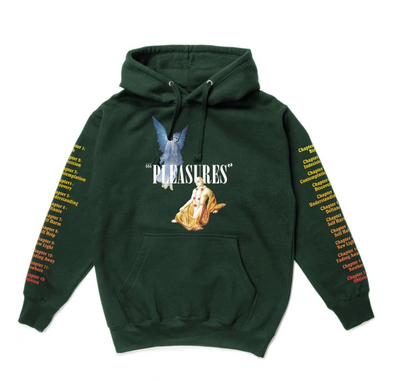 PLEASURES RETURN PREMIUM HOODY - Alpine Green