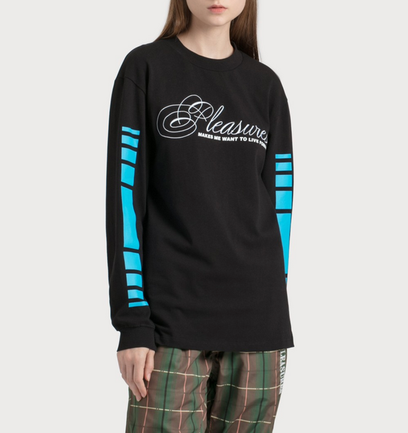 PLEASURES LIVE FOREVER PREMIUM L/S SHIRT - Black