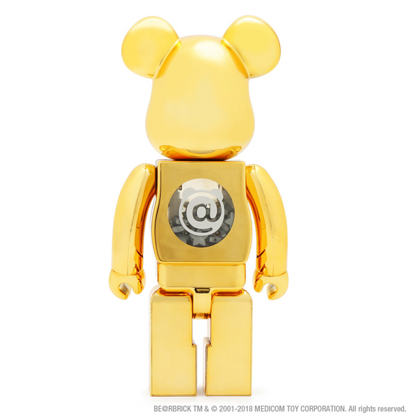 BE@RBRICK atmos GOLD CHROME 100% & 400%