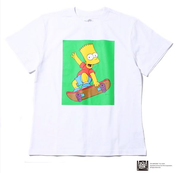 THE SIMPSONS x ATMOS LAB BART SKATE TEE - White