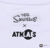THE SIMPSONS x ATMOS LAB HOMER & BART TEE - White