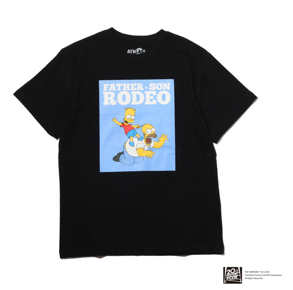 THE SIMPSONS x ATMOS LAB HOMER&BART RODEO TEE - Black