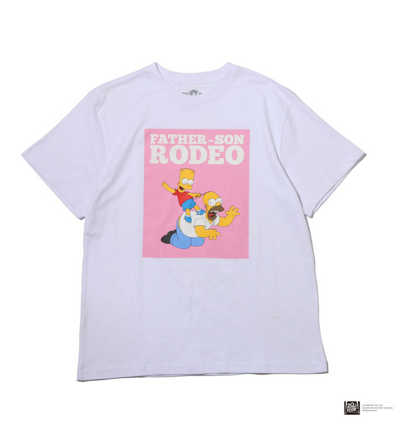 THE SIMPSONS x ATMOS LAB HOMER&BART RODEO TEE - White