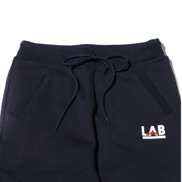 ATMOS LAB ROSE EMBROIDERY SWEAT PANTS - Navy