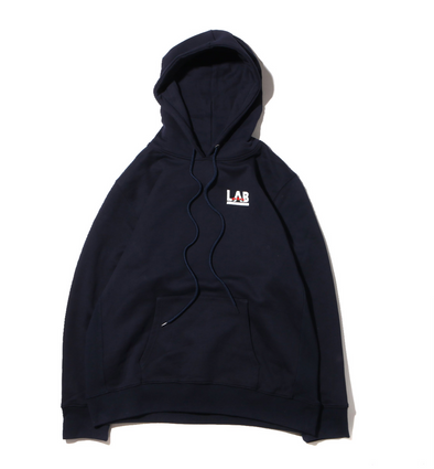 ATMOS LAB ROSE EMBROIDERY HOODIE - Navy