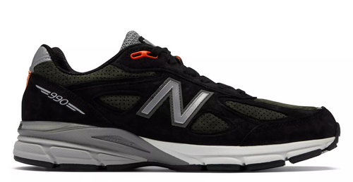 NEW BALANCE 990v4 Made In US -  Black with Rosin