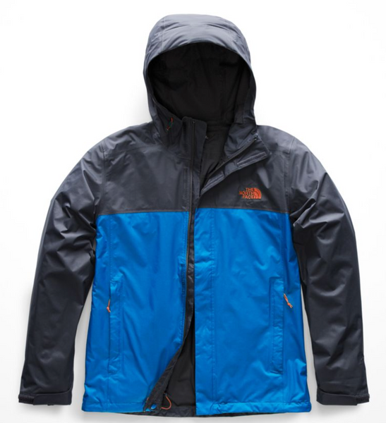 THE NORTH FACE MEN'S VENTURE 2 JACKET - TURKISH SEA/URBAN NAVY/PERSIAN ORANGE