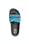 WOMENS PUMA LEADCAT COOGI SLIDE - BLACK / MULTI
