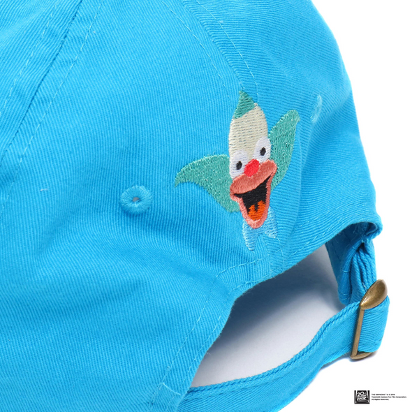 ATMOS LAB THE SIMPSONS x ATMOS LAB KRUSTY 6 PANEL CAP - NEON BLUE