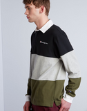 Champion Life® Men's Colorblock Rugby Shirt - Grey/Hiker Green