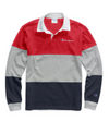 Champion Life® Men's Colorblock Rugby Shirt - Scarlet/Oxford Grey