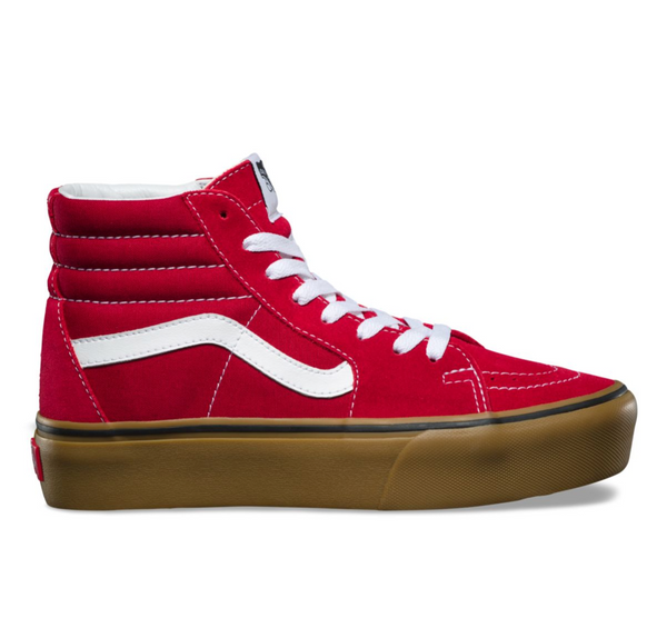 7e218236dc20 VANS GUM SK8-HI PLATFORM 2 - Scooter Red – Atmos New York