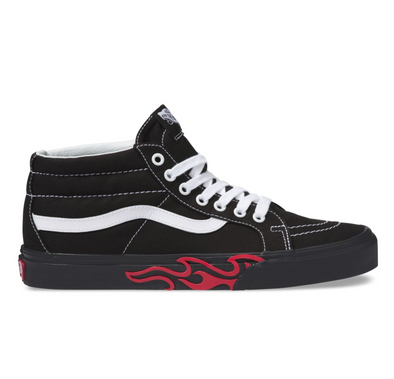 VANS FLAME CUT OUT SK8-MID REISSUE - Black/Black