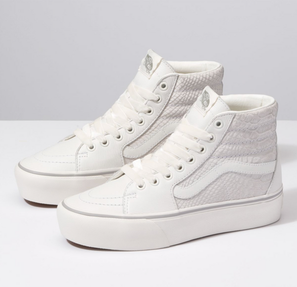 VANS SK8-HI PLATFORM - White Snakeskin Leather
