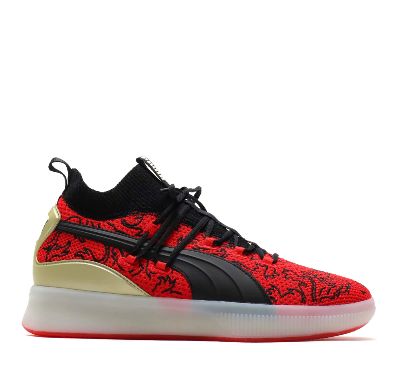 brand new 36917 a9767 PUMA CLYDE COURT LONDON CALLING - HIGH RISK RED – Atmos New York