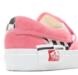 CHECKERBOARD SLIP-ON CAP SHOES - Pink