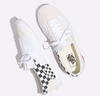 CHECKERBOARD SLIP-ON CAP SHOES - White