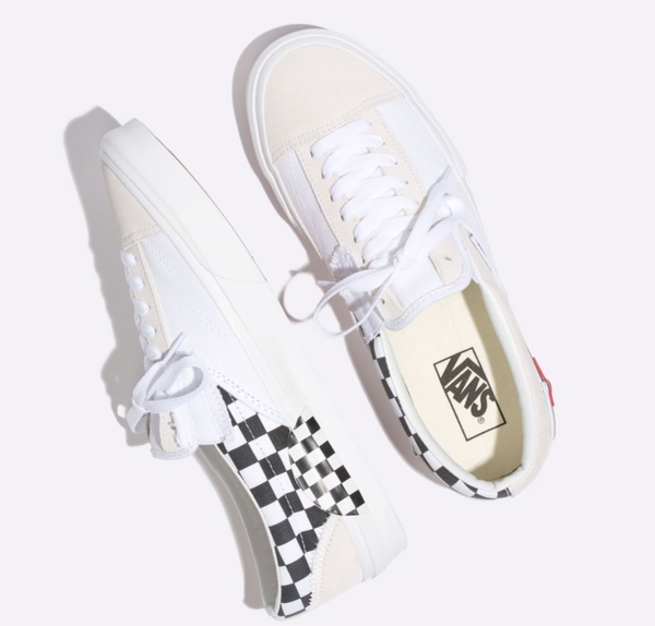 CHECKERBOARD SLIP-ON CAP SHOES - White – Atmos New York 7473e461f