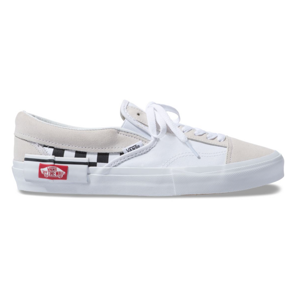 4f92b5b814 CHECKERBOARD SLIP-ON CAP SHOES - White – Atmos New York