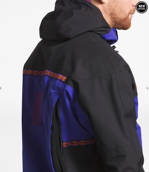 TNF MEN'S '92 RETRO RAGE RAIN JACKET - Aztec Blue / TNF Black