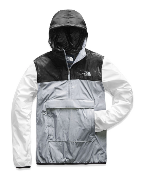 TNF MEN'S FANORACK - MIDGREY / TNF BLACK / TNF WHITE