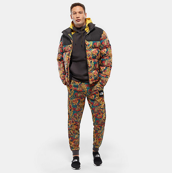 online shop new release on sale THE NORTH FACE 1992 NUPTSE JACKET - Leopard Yellow Genesis Print -