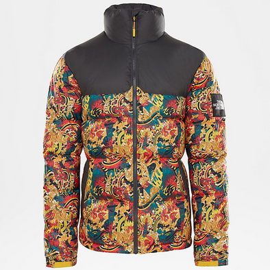 THE NORTH FACE 1992 NUPTSE JACKET - Leopard Yellow Genesis Print
