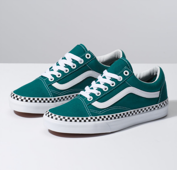 VANS OLD SKOOL CHECK FOXING - Quetzal Green