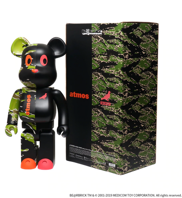 MEDICOM TOY BE@RBRICK atmos x STAPLE #2 1000% - Tiger Camo