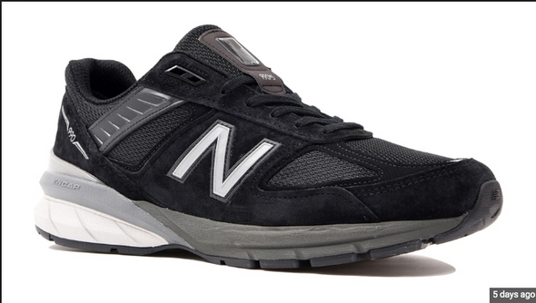 NEW BALANCE M990BK5-BLACK/GREY Made In USA