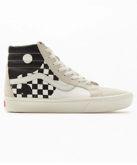 UA ComfyCush SK8-HI (YING YANGS) - MARSHMALLOW/BLACK