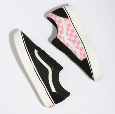 UA ComfyCush Old SKOOL (SPLIT) BLACK/STRAWBERRY PINK