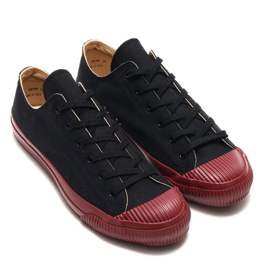 PRAS SHELLCAP LOW - KURO / BURGUNDY