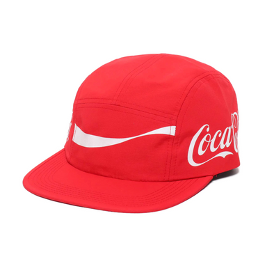 COCA COLA x ATMOS LAB NYLON CAMP CAP - Red
