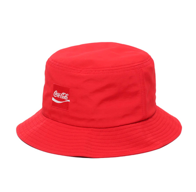 COCA COLA x ATMOS LAB NYLON BUCKET HAT - Red