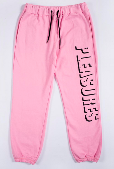 HARVARD EMBROIDERED SWEATPANT / PINK