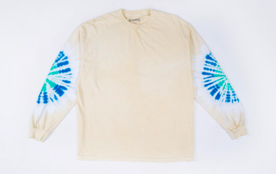 NOT AFRAID TYE DYE LONG SLEEVE / CREAM