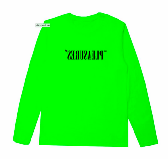 FLIPPED LOGO LONG SLEEVE T-SHIRT / SAFETY GREEN