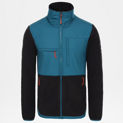 MEN'S TNF DENALI FULL ZIP FLEECE - BLUE CORAL/TNFBLK/BLUE COR