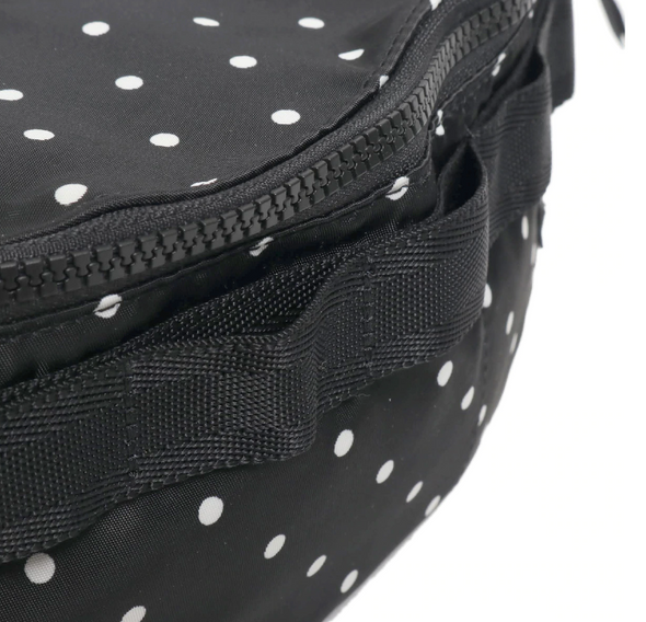 PORTER x ATMOS LAB SATIN WAIST BAG - BLACK / DOT