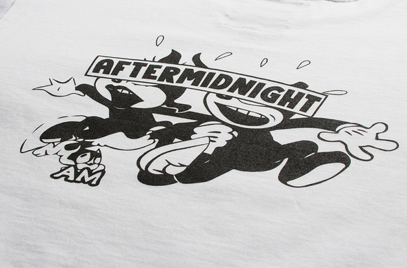 AFTER MIDNIGHT CAT TEE - White
