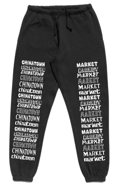 CTM TACKED LOGO SWEATPANTS - Black