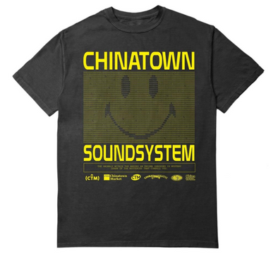 CTM SMILEY SOUND SYSTEM TEE - Black