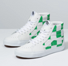 VANS LEATHER CHECK SK8-HI - True White / Fern Green