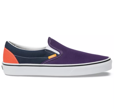 "MEN'S VANS UA CLASSIC SLIP-ON ""MIX & MATCH"" - VIOLET INDIGO/FOREST NIGHT"