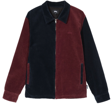 STUSSY MIX UP CORD JACKET - Navy / Maroon