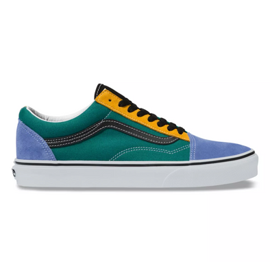 "MEN'S VANS UA OLD SKOOL ""MIX & MATCH"" - CADMIUM YELLOW/TIDEPOOL"